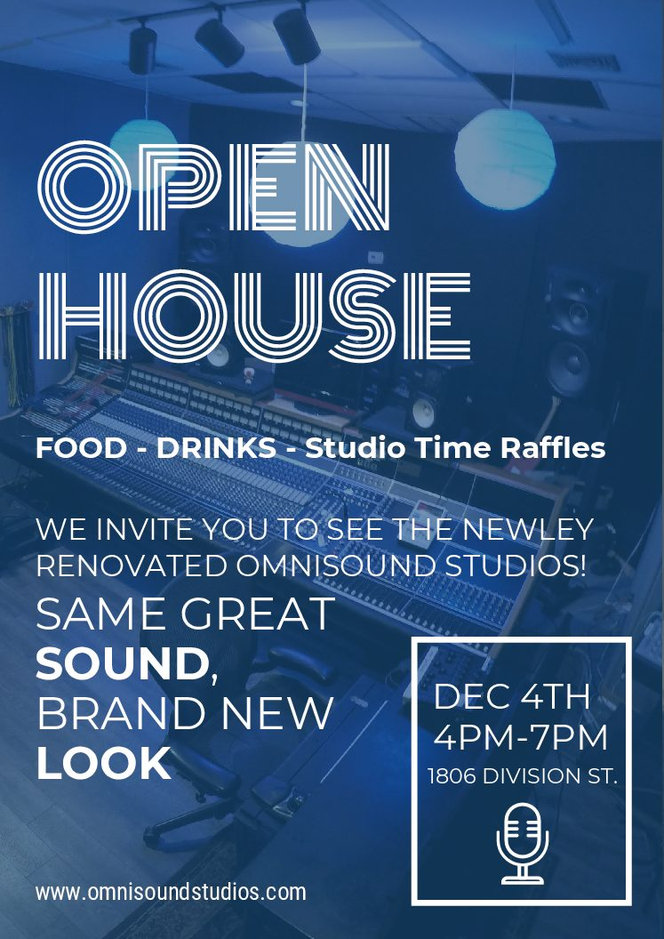 Open House-December 4th, 4-7pm